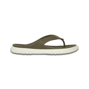 Crocs Walnut & White CitiLane Flip-Flop - Unisex | zulily