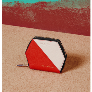 Colour-block leather wallet - Red | Bags & Wallets | Ted Baker