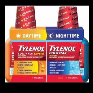 Tylenol Cold & Flu Night & Day Twin Pack, 8 Fl Oz  by Tylenol
