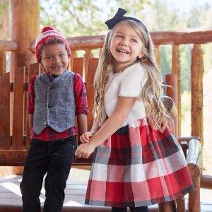 4折+额外8折 或 包邮折扣升级:Gymboree 儿童节日礼服促销