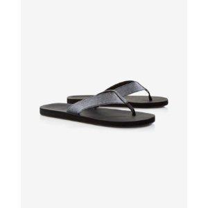 Chambray Flip Flops