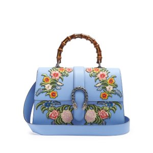 Dionysus large floral-embroidered leather tote | Gucci