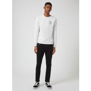 Light Grey End Print Sweatshirt - View All Sale - Sale - TOPMAN USA