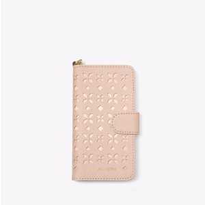 Perforated Leather Folio Phone Case For iPhone 7