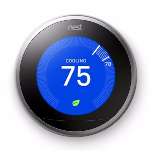 Nest Stainless Steel Learning- 3rd Generation Thermostat with Built-In WiFi