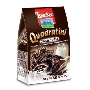 Loacker Cocoa & Milk Quadratini