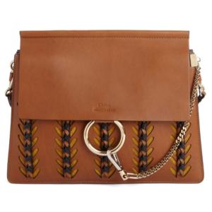 Chloé Faye Calfskin Leather & Suede Shoulder Bag