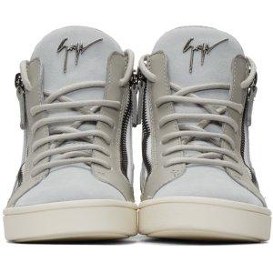 Giuseppe Zanotti: Grey Suede London High-Top Sneakers