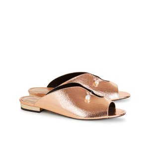 Rose Gold Foiled Lucilla Slides | Coliac | Avenue32