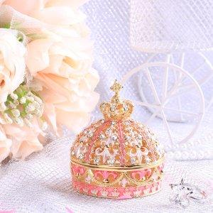 $17.8 / RMB118.1 直邮中美超美貌 PIEARTH 精致镂空 水晶 皇冠 首饰盒 特价