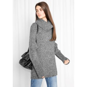 Chunky Turtleneck Knit - Grey - & Other Stories