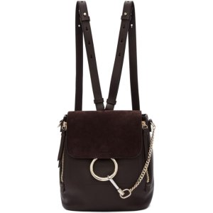 Brown Small Faye Backpack