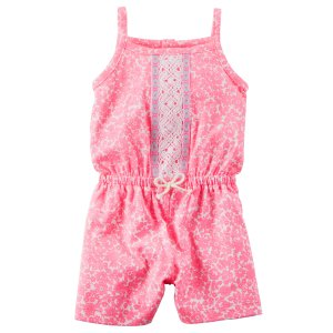 Floral Embroidered Romper | Carters.com
