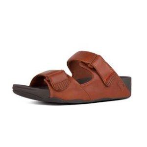 Adjustable Leather Slide Sandals