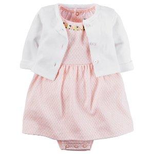 2-Piece Babysoft Bodysuit Dress & Cardigan Set | Carters.com