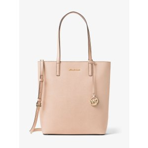 Hayley Large Top-zip Leather Tote
