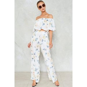 It Would Be a Crime Floral Pants   Shop Clothes at Nasty Gal!