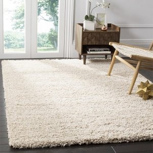 Safavieh California Cozy Solid Beige Shag Rug (8' x 10') - Free Shipping Today - Overstock.com - 13650961
