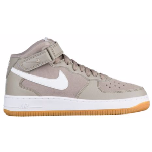 Nike Air Force 1 Mid - Boys' Grade School - Basketball - Shoes - Light Taupe/White/Gum Light Brown