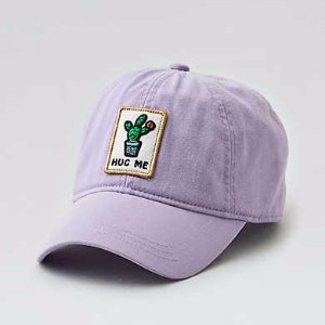 AEO Patched Baseball Hat , Purple | American Eagle Outfitters