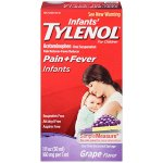 Infants' Tylenol Pain Reliever-Fever Reducer, Oral Suspension, Grape Flavor, 1 oz