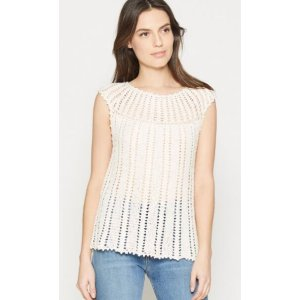 Women's Nuo Crochet Top made of Cotton