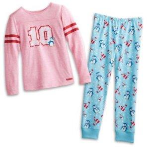 Holiday Penguin PJs for Girls