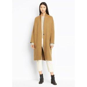 High Collar V-Neck Coat