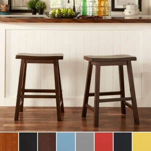 Salvador Saddle Back 24-inch Counter Height Backless Stool (Set of 2) by iNSPIRE Q Bold | Overstock.com Shopping - The Best Deals on Bar Stools