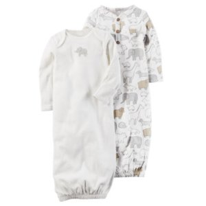 Carter's Unisex Long Sleeve 2-pk. Gown - Baby - JCPenney