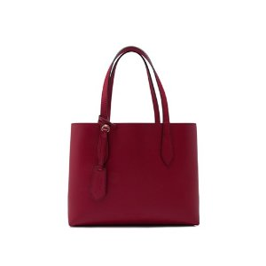 Burberry Haymarket Colours Check Leather Small Reverse Tote
