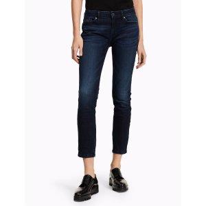skinny dark wash ankle jeans
