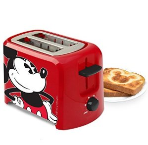 $16.47 Disney DCM-21 Mickey Mouse 2 Slice Toaster, Red/Black