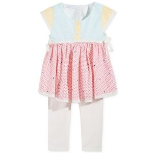 First Impressions 2-Pc. Mixed-Print Tunic & Leggings Set, Baby Girls (0-24 months), Only at Macy's - Sale & Clearance - Kids & Baby - Macy's