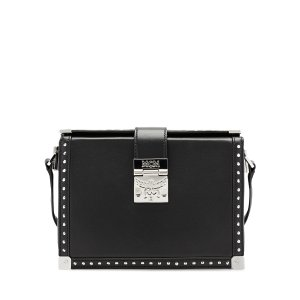 Small MITTE CROSSBODY in Black by MCM