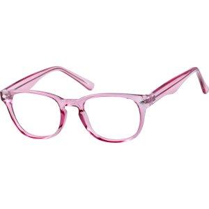 Pink Women's Pink Square Eyeglasses #1256 | Zenni Optical Eyeglasses