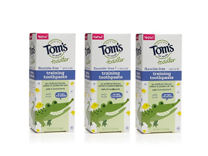 $6.94+ Free ShippingTom's of Maine Toddlers Fluoride-Free Natural Toothpaste in Gel, Mild Fruit, 1.75 Ounce, 3 Count