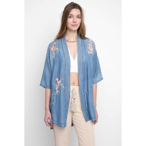 Billy T. Embroidered Tencel Kimono | South Moon Under
