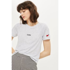 Lover Embroidered T-Shirt - Tops - Clothing - Topshop USA