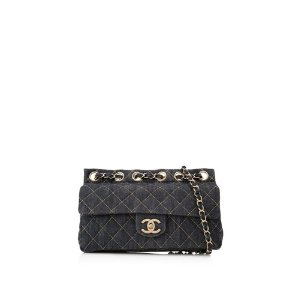 Chanel Quilted Denim Small Flap Bag
