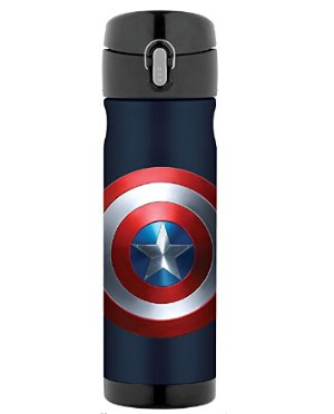 $20Thermos 16 Ounce Stainless Steel Commuter Bottle, Captain America