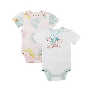 Set of 2 Morning Glory Bodysuits - Burts Bees Baby