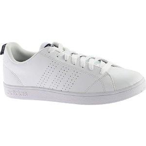 Mens adidas Advantage Clean VS Sneaker - White/White/Navy - FREE Shipping & Exchanges