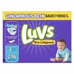 又降:Luvs婴儿尿布4段 160片