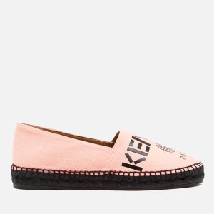 KENZO Women's Canvas Logo Espadrilles - Faded Pink - Free UK Delivery over £50