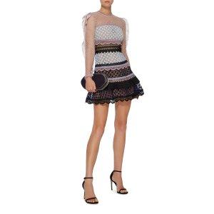 Bellis Ruffled Lace Dress
