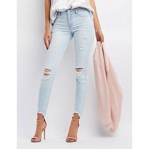 Refuge Skin Tight Legging Destroyed Jeans | Charlotte Russe