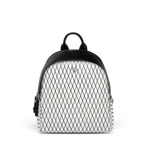 Mini Duchess Polke Studs Rombi Backpack in White Flake
