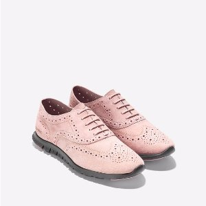 ZEROGRAND Wingtip Oxfords in Silver Pink-Pavement | Cole Haan