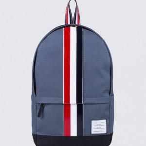 Thom Browne Mackintosh Backpack with RWB Leather Stripe   HBX